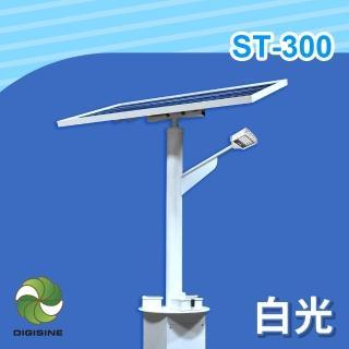 【DIGISINE】ST-300 太陽能智能路燈 - 12V系統/2000流明/白光(太陽能發電/獨立電網/戶外照明路燈/藍牙遙控)