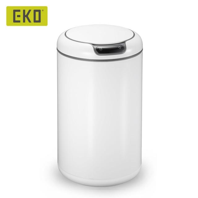 【EKO】蓋樂自動感應垃圾桶-12L(高光白/時尚科技感/全新科技感應面板)/