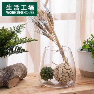 【生活工場】Clear圓弧手工花瓶H16cm