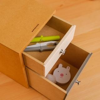 【生活工場】【女神節推薦】杉水間雙抽收納盒