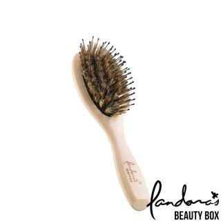 【Pandora's Beauty Box 潘朵拉的美妝盒】櫸木氣墊豬鬃梳-小(按摩梳/氣墊梳/美髮梳/護髮梳子/髮梳)