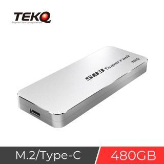 【TEKQ】480G Type C USB 3.1 Gen 2 PCIe 10Gbps M.2 NVMe SSD(外接式硬碟)