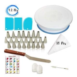 烘焙蛋糕轉盤組 裱花嘴翻糖工具組