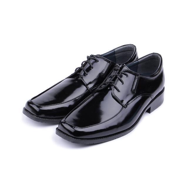【鞋全家福】男_綁帶寬楦方頭紳士皮鞋_黑/
