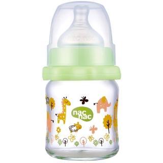 【nac nac】吸吮力學寬口耐熱玻璃奶瓶(120ml)