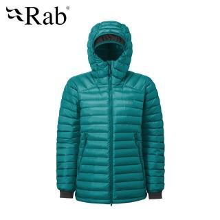 【英國 RAB】Microlight Summit Jacket 高透氣羽絨連帽外套 女款 亞特蘭提斯 #QDA89(羽絨外套)