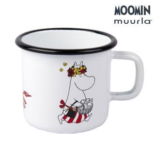 【JIA Inc 品家家品】Muurla - 嚕嚕米媽媽琺瑯馬克杯 白色(370cc)