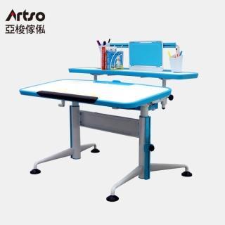 【Artso 亞梭】Match桌(油氣混和無段數斜面設計機械式調整機構自然預防駝背與近視的兒童成長書桌)