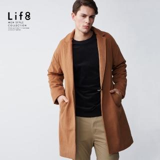 【Life8】Formal 高質羊毛 寬版落肩大衣(11186)