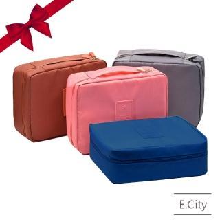 【E.City】開運福袋買一送一-韓版旅用大容量防潑水多隔層洗漱收納包(共2入)