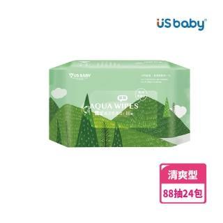 【US BABY 優生】清爽型純淨柔濕巾88抽(24包)