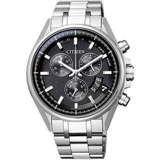 【CITIZEN 星辰】GENTS限量光動能五局電波三眼腕錶-黑(BY0140-57E)