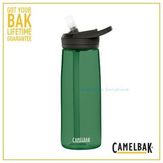 【CAMELBAK】750ml eddy+多水吸管水瓶 森林綠(CB1643302075水壺)