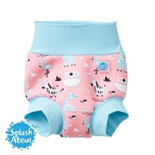 【Splash About 潑寶】3D加強版 游泳尿布褲(粉紅動物園)