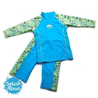 【Splash About 潑寶】UV Close Fit 兒童抗UV游泳套裝(國王變色龍)