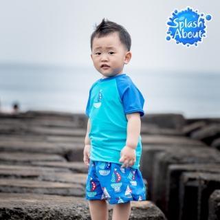 【Splash About 潑寶】兒童抗UV海灘褲(普普風帆船)
