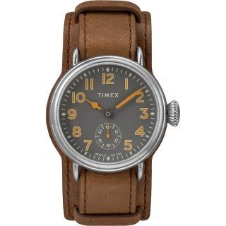 【TIMEX】天美時 復刻系列 經典復古手錶(棕色 TXTW2R88000)
