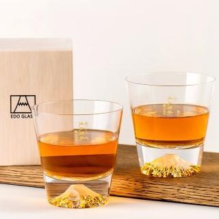 【田島硝子】富士山杯 經典款 威士忌杯2入組 對杯 酒杯(TG15-015-R+TG15-015-R)