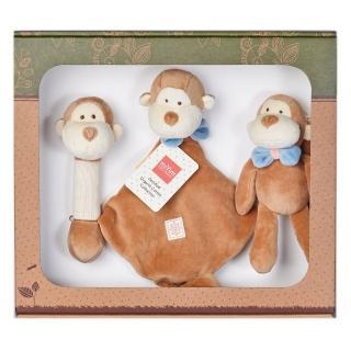 【美國miYim】有機棉安撫玩具禮盒組(布布小猴)