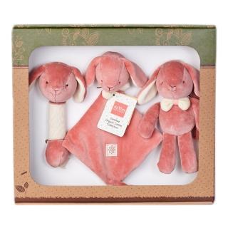 【美國miYim】有機棉安撫玩具禮盒組(邦妮兔兔)