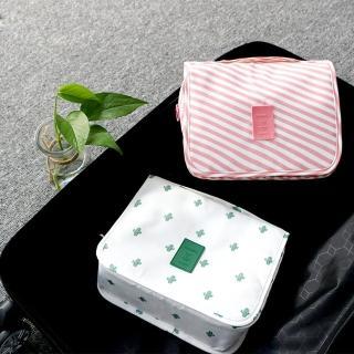 【TD 樂活】DINIWELL 輕便旅行斜紋系列掛勾洗漱包 化妝收納包 旅行收納包