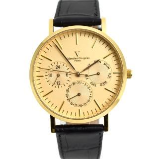 【Valentino Coupeau】三眼皮革錶