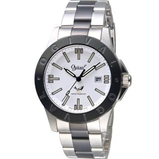 【Ogival 愛其華】夜鷹系列氚氣燈管腕錶(827TMSB)
