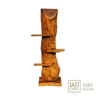 【吉迪市柚木家具】原木造型花台/置物架