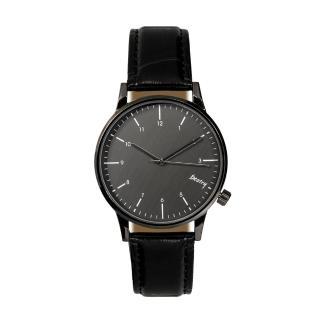 【iDeatry】韓風皮革錶帶  簡約金屬紋手錶(手錶 男錶 女錶 對錶 生日 情人節 交換禮物)