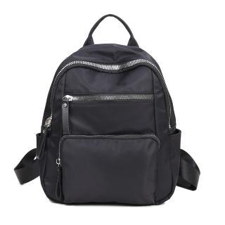 【VIVI SECRET】輕巧尼龍材質後背包(個性化大拉鍊 共2色)