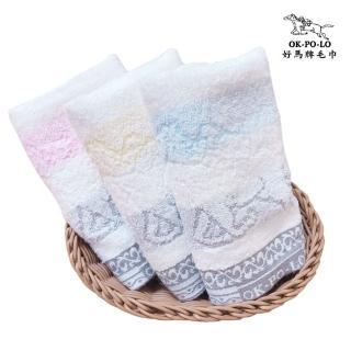 【OKPOLO】台灣製造奈米竹炭吸水毛巾-12入組(吸水厚實柔順)