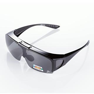 【Z-POLS】可掀包覆設計 Polarized寶麗來偏光抗UV400太陽眼鏡(可包覆近視眼鏡於內新款偏光眼鏡)