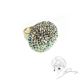 【byFanny】圓鑽戒指-極光(奧地利施華洛世奇水晶)