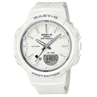 【CASIO 卡西歐】BABY G 運動雙顯女錶 橡膠錶帶 粉紅x粉藍 防水100米 計步器(BGS-100SC-7A)