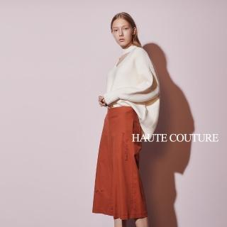 【ICHE 衣哲】Haute Couture 高定系 時尚俐落挺版刺繡造型直筒寬褲-太妃糖色