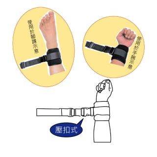 【感恩使者】安全束帶 - 手腳綁帶 舒適束帶 2入 壓扣式 ZHCN1901-B(含木製固定片)