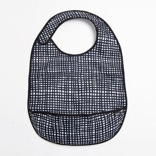 【OGG】時尚成人圍兜 - 時尚黑白印花(防水用餐圍兜)
