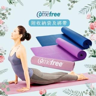 【Comefree】瑜珈彈力墊+超細纖維吸汗止滑瑜珈鋪巾
