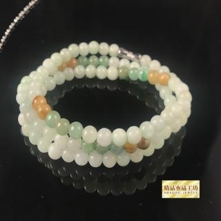 【精品水晶工坊】天然翡翠A貨冰糯種串珠(促銷款)