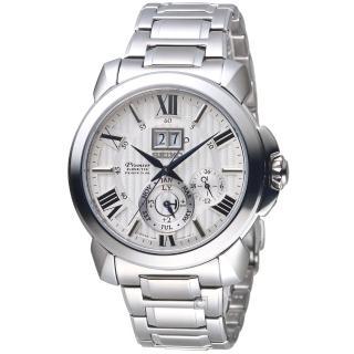 【SEIKO 精工】PREMIER 人動電能萬年曆腕錶(7D56-0AE0S SNP139J1)