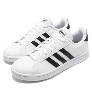 【adidas 愛迪達】休閒鞋 Grand Court 運動 女鞋 愛迪達 基本款 穿搭 舒適 球鞋 白 黑(F36483)