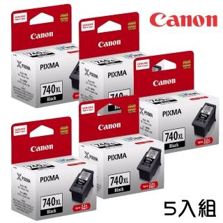 【Canon】PG-740XL★ 黑色墨水匣5入組 速達