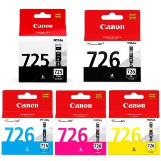 【Canon】PGI-725BK+726BK/C/M/Y 原廠墨水組(2黑3彩)