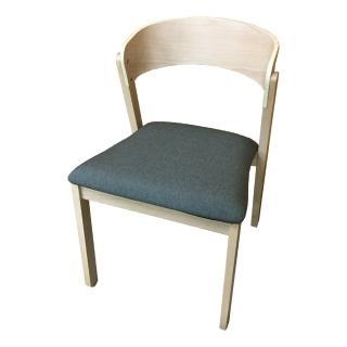 【AS】Ina綠布面實木餐椅-50x52.5x79cm