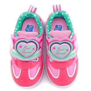 【童鞋城堡】粉紅豬小妹 珮珮豬 中童 電燈輕量運動跑鞋(PG6401-桃)