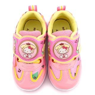 【童鞋城堡】Kitty X 布丁狗聯名款 中童 輕量跑底電燈運動鞋(KT7181-粉)