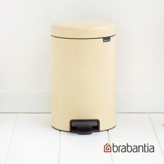 【Brabantia】NEWICON環保垃圾桶-12L杏仁黃(荷蘭百年家居精品)