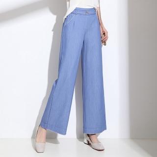 【WHATDAY】減齡顯瘦寬鬆天絲牛仔褲27-35(共三色)