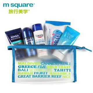 【M Square】字母防水PVC化妝包S