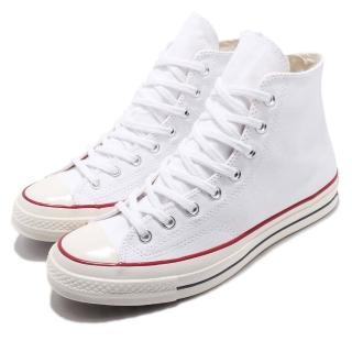 【CONVERSE】休閒鞋 All Star 70 穿搭 男女鞋 基本款 高筒 情侶鞋 黑標三星 白 紅(162056C)